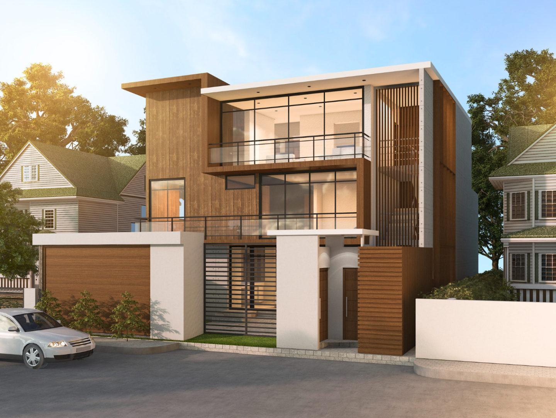 3d rendering modern style design house
